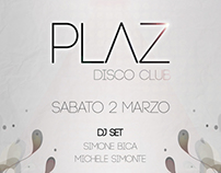 Plaz Disco Club flyer