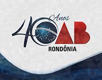 OAB/RO 40 anos - Logotipo comemorativo
