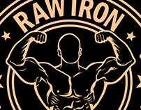 RAW IRON Gym Wear logos
