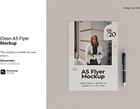 Clean A5 Flyer Mockup