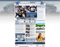 DALLAS COWBOYS HOME PAGE DESIGN