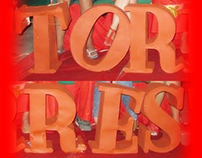 Giant Letters - Torres Christmas Party 2013