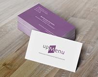 Business Card UpMenu