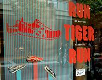 Escaparates Run Tiger Run para Asics Onitsuka Tiger