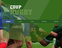 Ui Design for CDUP Rugby Site