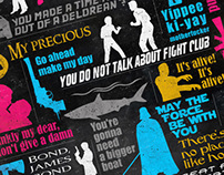 Famous movies quotes poster.