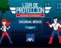 """Videojuego """"LIGA DE PROTECCIÓN"""" AXA"""
