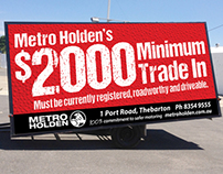 Metro Holden - Trailer Artwork
