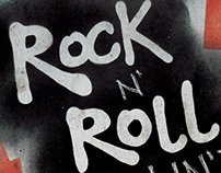 Rock n' Roll Aint Noise Pollution - Custom Type Poster