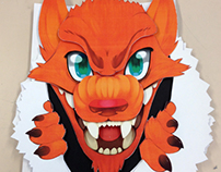 'Fire Wolf' - Three-dimensional poster