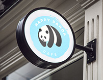 Happy Panda Cafe Branding