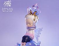GUMON sculpture series starry mermaid
