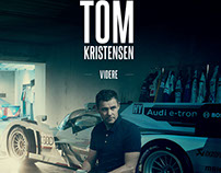 New book cover for Tom Kristensen, Danish race driver.