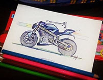 Concept sketch of street bike