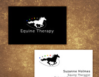Business Card Design for Equine Therapy Professional