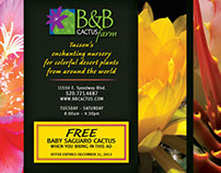 B&B Cactus Magazine Print Ads