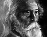 ravind nath tagore photoshop sketch