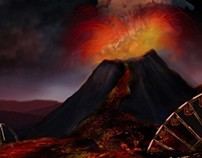 Eruption Matte Painting