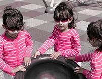Pink E Spinning Round