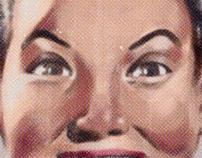 Vintage faces, cereal box design for Longboard Co.