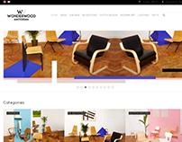 website design for WonderWood Amsterdam