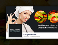 Burger House - Facebook Covers