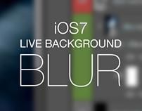 iOS7 LIVE Background blur