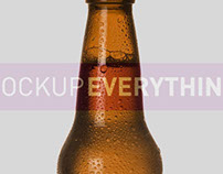 Beer Bottle Mockup Template and PSD Template