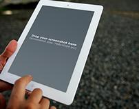 White iPad mini on the street