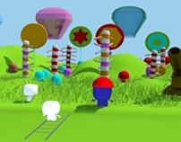 Escenario de dulce en 3D