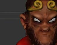 personaje 3D  El Rey Mono
