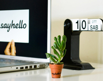 Sayhello on your desk