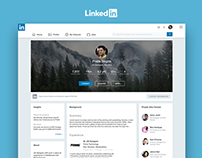 LinkedIn Page Redesign