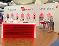 Virgin Atlantic GBTA Trade Show Booth