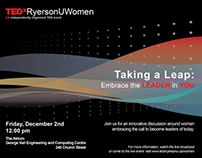 TEDxRyersonU 2011 - Taking A Leap