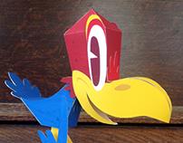 Paper Jayhawk for KU