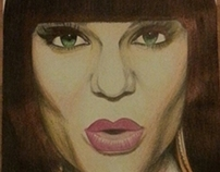 Jessie J Portrait Drawing