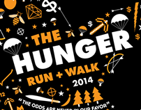 Hunger Run + Walk 2014 T-Shirt Design