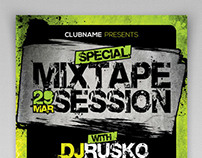 Mixtape Session Party Flyer Template