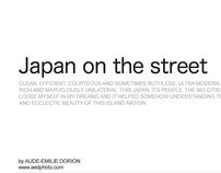 Japan in the street