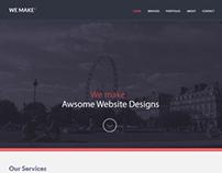 We Make One Page Design