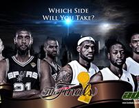 2013 NBA Finals Poster Design / Wallpaper