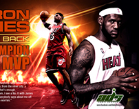 Lebron James MVP Season Poster Design / Wallpaper