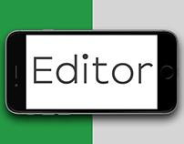 Editor Typeface