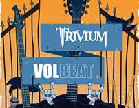 Trivium & Volbeat Poster Design