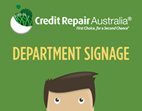 Credit Repair Australia: Department Signage