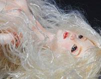 Mixed Media Mermaid Figurine