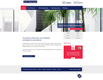 Clean and flat webdesign van Rossum advocaten