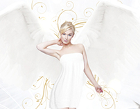 White Angels Party Flyer/Poster