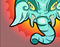 Ganesha. First project on Illustrator.